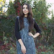 Одежда ручной работы. Ярмарка Мастеров - ручная работа Платье Валяное Осенние туманы. Handmade.
