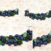 Украшения handmade. Livemaster - original item Bracelet with blueberries and blackberries. Handmade.