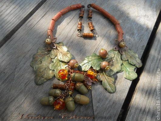 Колье, бусы ручной работы. Ярмарка Мастеров - ручная работа. Купить На лесной опушке, где поют кукушки... ку - ку. Handmade.