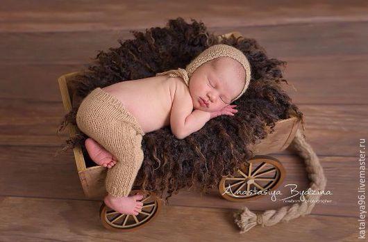 Для новорожденных, ручной работы. Ярмарка Мастеров - ручная работа. Купить Коврик для фотосессии новорожденного. Handmade. Белый, фотографу