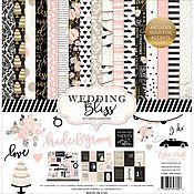 Материалы для творчества ручной работы. Ярмарка Мастеров - ручная работа Набор бумаги Echo Park Collection Kit 30х30 см Wedding Bliss с золотым. Handmade.