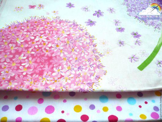 Шитье ручной работы. Ярмарка Мастеров - ручная работа. Купить Набор тканей №2. Handmade. Комбинированный, розовый, ткань в горошек