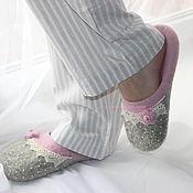 """Обувь ручной работы. Ярмарка Мастеров - ручная работа """"Нежнее нежного"""" валяные тапочки из овечьей шерсти. Handmade."""