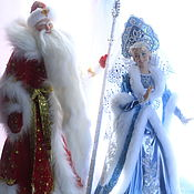 Куклы и игрушки ручной работы. Ярмарка Мастеров - ручная работа Большие куклы Дед Мороз и Снегурочка (под елку). Handmade.