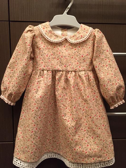 Одежда для девочек, ручной работы. Ярмарка Мастеров - ручная работа. Купить Платье для маленькой принцессы. Handmade. Платье, хлопковая ткань