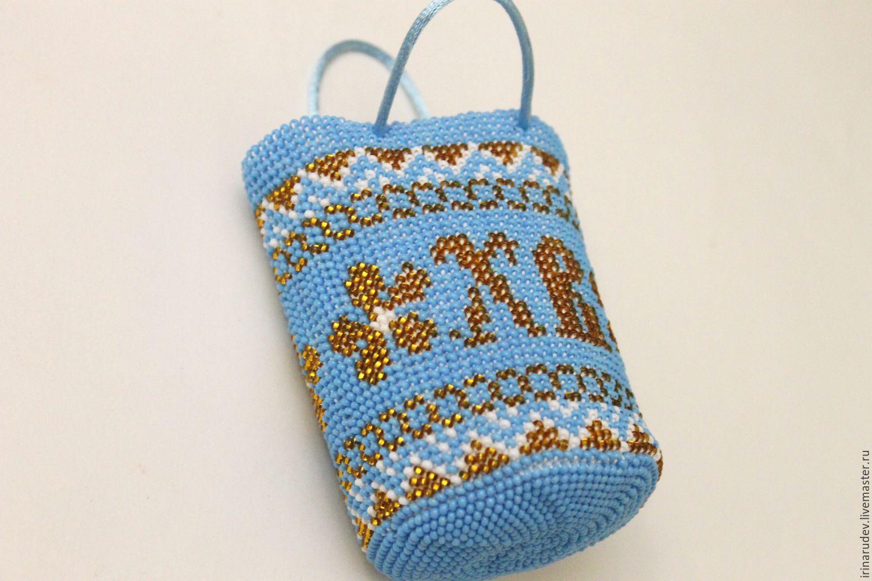 """Набор для вязания бисером. Мешочек """"Голубое золото"""", Схемы для вязания, Серпухов,  Фото №1"""