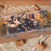 """Для дома и интерьера ручной работы. Ярмарка Мастеров - ручная работа """"Винный погребок"""" короб для вина. Handmade."""