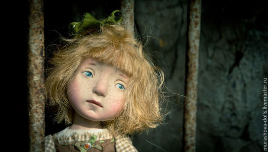 Коллекционные куклы ручной работы. Ярмарка Мастеров - ручная работа. Купить Ореховая Соня. Handmade. Бежевый, трессы