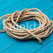 Дизайн и реклама ручной работы. Ярмарка Мастеров - ручная работа Джутовая веревка 6 мм, 10 метров, ДФ-01. Handmade.