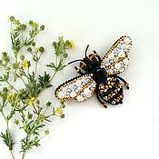 """Украшения ручной работы. Ярмарка Мастеров - ручная работа """"золотая пчелка"""" брошь. Handmade."""