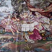 необыкновенного сюжета,красоты и размера 255 на 208 ручная вышив