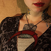 Pendants handmade. Livemaster - original item Suspension Lunnitsa - Red Luna Maya. Handmade.