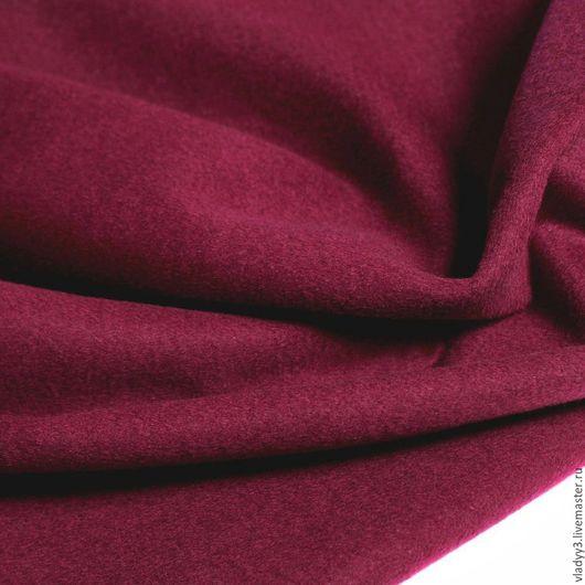 Шитье ручной работы. Ярмарка Мастеров - ручная работа. Купить Пальтовая ткань цвет пурпур. Handmade. Бордовый, шерсть
