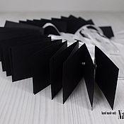 Материалы для творчества ручной работы. Ярмарка Мастеров - ручная работа Бирочки-ярлычки черные. Handmade.