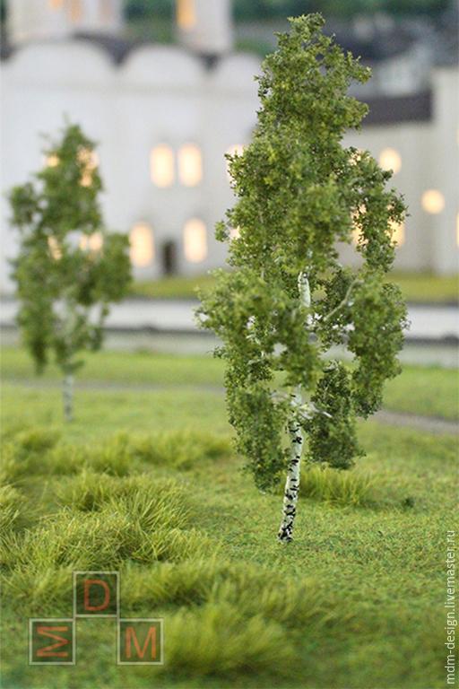 Дерево для макета или кукольного сада - береза