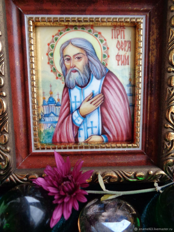 Folk Souvenirs: Painting on enamel' St. Seraphim of Sarov', Souvenirs3, Tolyatti,  Фото №1