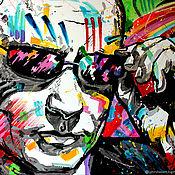 Картины и панно handmade. Livemaster - original item Painting portrait of Putin