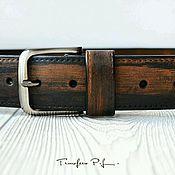 """Аксессуары ручной работы. Ярмарка Мастеров - ручная работа Ремень """"Wood"""". Handmade."""