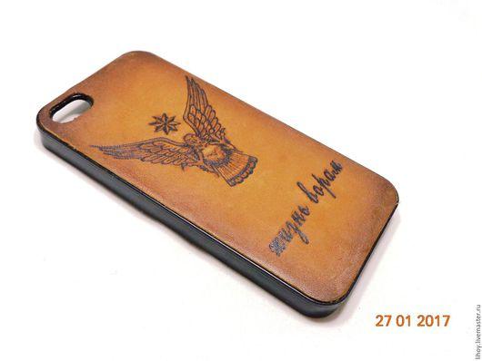 Для телефонов ручной работы. Ярмарка Мастеров - ручная работа. Купить Чехлы для iPhone 4,5,6. Handmade. Коричневый