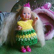 Куклы и игрушки ручной работы. Ярмарка Мастеров - ручная работа PDF Мастер-класс по вязанию платья для куколки Еви. Handmade.