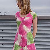 """Одежда ручной работы. Ярмарка Мастеров - ручная работа Платье """"Весна"""". Вязаный пэчворк. Handmade."""