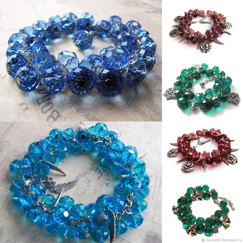 Bracelet 'Blue ice', Bead bracelet, Voronezh,  Фото №1