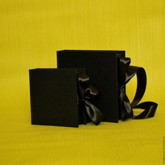 Подарочная упаковка ручной работы. Ярмарка Мастеров - ручная работа. Купить Коробочка для упаковки, ПРЕМИУМ. Handmade. Черный, подарочная коробочка