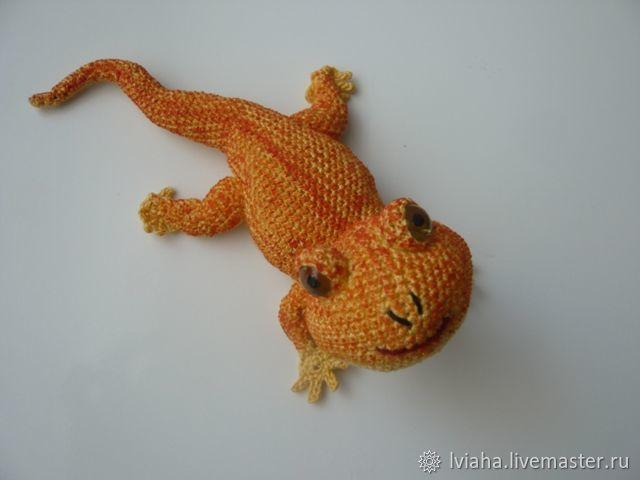 Knitted lizard - fridge magnet ), Magnets, Teykovo,  Фото №1