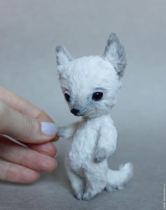 Мишки Тедди ручной работы. Ярмарка Мастеров - ручная работа. Купить Белый волчонок. Handmade. Белый, волчонок тедди