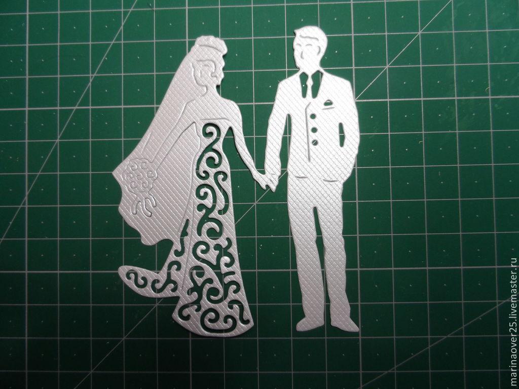 Шаблон объемной открытки к свадьбе, картинки