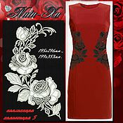 Материалы для творчества handmade. Livemaster - original item Bright roses. Composition 5 (application).. Handmade.