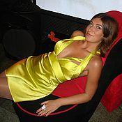 Одежда ручной работы. Ярмарка Мастеров - ручная работа Платье с глубоким  декольте и жестким(корсетным) лифом. Handmade.