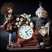 """Куклы и игрушки ручной работы. Ярмарка Мастеров - ручная работа Часы """"Час ,минутка ,секунда"""". Handmade."""