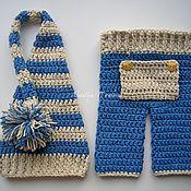 Работы для детей, handmade. Livemaster - original item The hood and pants for the photoshoot. Handmade.