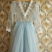 Одежда ручной работы. Ярмарка Мастеров - ручная работа Будуарное платье (пеньюар) для беременных. Handmade.
