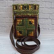 Поясная сумка ручной работы. Ярмарка Мастеров - ручная работа Сумка-карман, лакомник, сумка на пояс, русский стиль, Зеленый. Handmade.