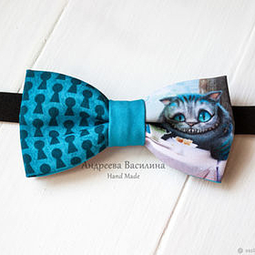 Accessories handmade. Livemaster - original item Bow tie Cheshire cat/Alice in Wonderland. Handmade.
