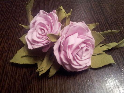 """Заколки ручной работы. Ярмарка Мастеров - ручная работа. Купить заколка """"Роза"""". Handmade. Бледно-розовый, заколка с цветами, цветы"""