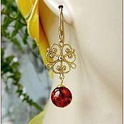 Украшения handmade. Livemaster - original item Amber. Earrings