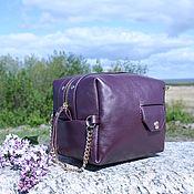 handmade. Livemaster - original item Women`s cosmetic bag (dressing case) made of genuine leather