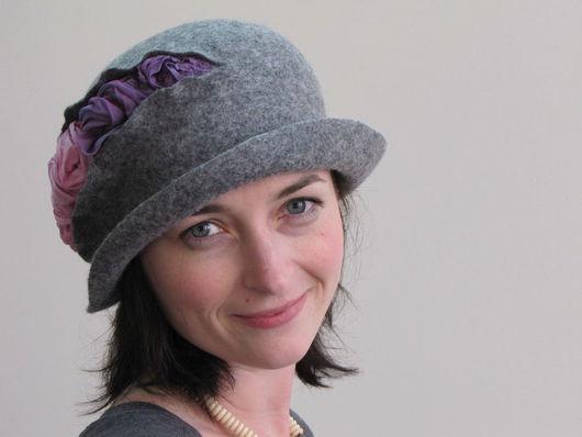 """Шляпы ручной работы. Ярмарка Мастеров - ручная работа. Купить Шляпка """"Чайная роза"""". Handmade. Дизайнерская шляпка, шляпа из шерсти"""