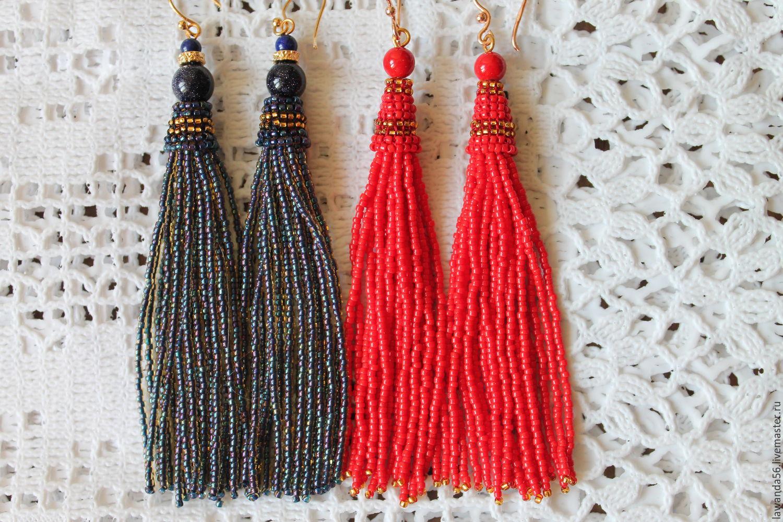 Earrings Brush Made Of Japanese Seed Beads In Stock Kupit Na Yarmarke Masterov Aj5cpcom Sergi Kisti Krasnoyarsk