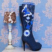 """Обувь ручной работы. Ярмарка Мастеров - ручная работа Валенки """"Синие мечтательные"""". Handmade."""