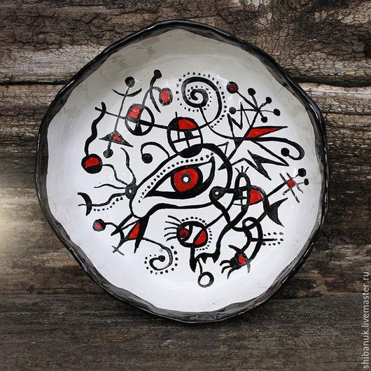 """Салатники ручной работы. Ярмарка Мастеров - ручная работа. Купить Блюдо керамическое """"Дада"""". Handmade. Посуда ручной работы, красный"""