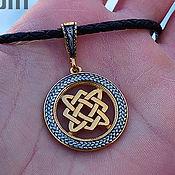 Украшения handmade. Livemaster - original item Amulet Star Lada in pigtail. Gilding 999 and 925 silver art.Three million eleven thousand six hundre. Handmade.