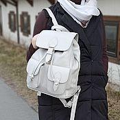 Сумки и аксессуары handmade. Livemaster - original item Backpack women`s leather Platinum gray Mod P46-141-1. Handmade.