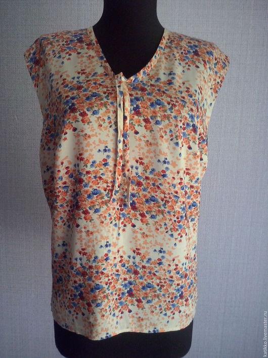 Блузки ручной работы. Ярмарка Мастеров - ручная работа. Купить Блузка. Handmade. Комбинированный, блуза с баской, блузка в офис