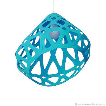 Освещение ручной работы. Ярмарка Мастеров - ручная работа ZAHA LIGHT ярко голубой потолочный подвесной светильник. Handmade.