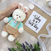 Материалы для творчества handmade. Livemaster - original item Master class on crochet hare. Bunny crochet. Description Bunny. Handmade.
