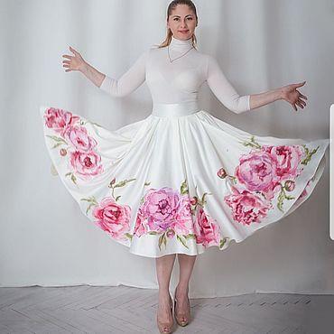 """Одежда ручной работы. Ярмарка Мастеров - ручная работа Юбка """"Розовые пионы"""". Handmade."""